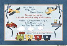 Baby Boy Toys Shower Invitation