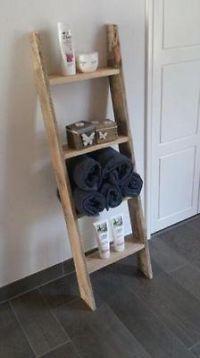Ladder gemaakt van steigerhout / pallethout