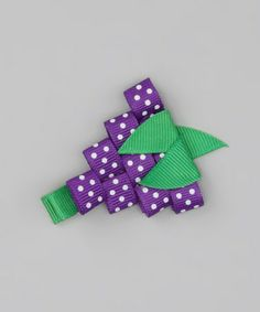 Take a look at this Grape Polka Dot Clip by Bourbon Street Boutique on #zulily today!