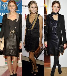 Looking back on Olivia Palermo Style: 2008 (part 2 of Estilo Olivia Palermo, Olivia Palermo Lookbook, Olivia Palermo Style, Leather Dresses, Fashion Colours, Leather Fashion, Her Style, Celebs, Womens Fashion