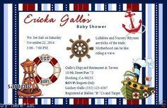 15 Personalized Baby Shower Invitations with Envelopes Nautical Theme #WeDoFavors #BabyShower