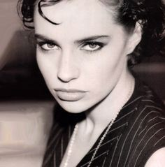 French bad girl Beatrice Dalle has an amazing face...