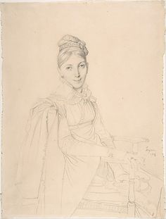 Jean-Auguste-Dominique Ingres, Portrait of a seated lady, 1814