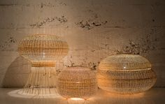 Wicker Lamps by Claesson Koivisto Rune for Made in Mimbre in home furnishings  Category