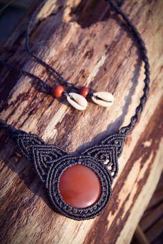 Subtle devine feminine macrame necklace by wholenessvibrations