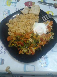 Plato completito: Carbohidratos + proteina + vitaminas y minerales y un plus de fibra!