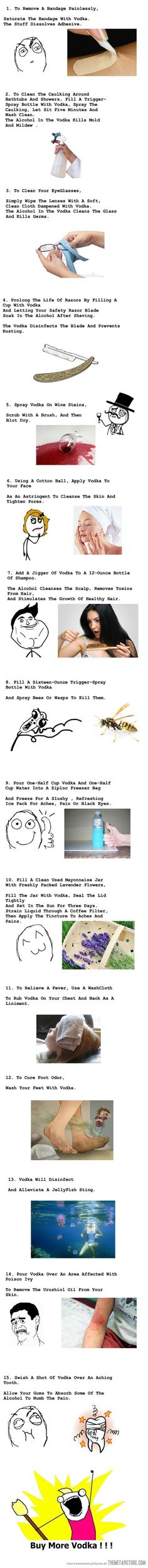 Top 15 Weird Uses for Vodka. OMG this Is amazing information lol