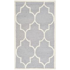 Varick Gallery Martins Silver & Ivory Area Rug III Rug Size: