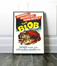 The Blob A4 A3 Original Poster Steve McQueen Vintage Prints