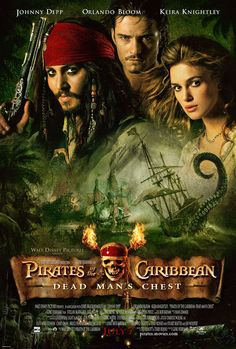 Pirates of the Caribbean: Dead Man's Chest 2006...Jack Sparrow is so much fun to watch.