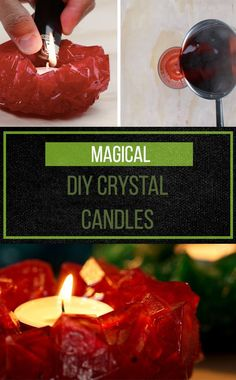 Make Magic By Crafting Up These Crystal Candles