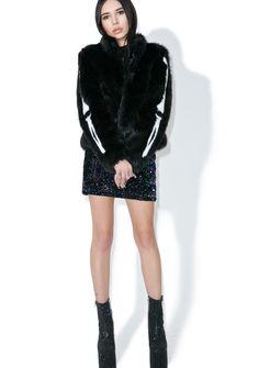 oakley benched jacket qfvo  Bone In Faux Fur Jacket