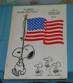 vintage Hallmark PEANUTS HOME DECORATIONS set new/unused Snoopy Charlie Brown