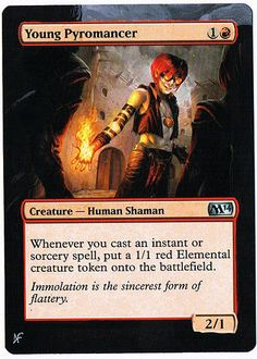MTG Altered Painted Young Pyromancer M14