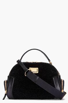 Marc By Marc Jacobs Black Shearling Bowler Bag for women Handbag Accessories, Fashion Accessories, Metallic Handbags, Jacob Black, Marc Jacobs Bag, Luxury Bags, Purses And Handbags, Gucci Purses, Shoulder Bag