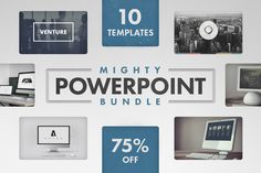 Mighty PowerPoint Bundle by Tugcu Design Co. | presented by TaylorAdams Marketing on Creative Market
