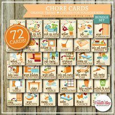 BUNDLE Chore Cards HUGE Chore Card by CreativiDeeWorkshop on Etsy