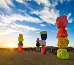 The deserts colorful sculptures celebrate the exuberance of color and scale __  Todays walk: (vacation edition!) 3.43 mi.; total since 3/30/14: 5826.89 miles  #desertsunset #sevenmagicmountains #magicmountains #sunset_pics #lasvegasvacation #anotherplanet #eveningwalks #photooftheday #villagewalks #alteredstates #walking #suburbanexpedition #shotwithmoment #landscapelovers #walk10000miles #fitnesswalking #vacationedition #midautumn2017 #landscapephotography #master_gallery #wonderful_places…