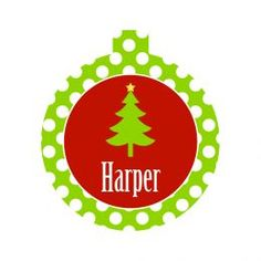 Holiday Round Christmas Ornament (Color: Tree)