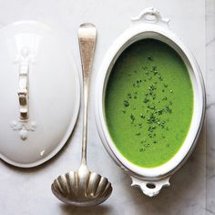 This is a far cry from army-green         split pea soup. Cooking the peas briefly         retains their vibrant color, and the addition         of fresh herbs keeps the finished soup         looking and tasting bright. Delicious warm         or chilled, it's a springtime staple.
