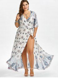 Printed Beach Maxi Floor Length Plus Size Dress Mobile Skirt Fashion, Boho Fashion, Womens Fashion, Plus Size Fashion For Women, Plus Size Women, Plus Size Dresses, Plus Size Outfits, Curvy Fashion, Plus Fashion