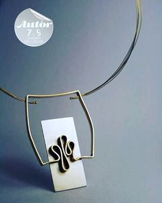 Necklace - window traces Will be presented at Autor Contemporary Jewelry Fair in Bucharest, 7th and 8th of november. Silver and brass www.contemporia.ro