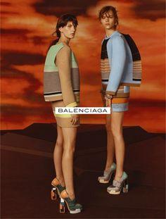 "magdalenafrackowiakfanblog: ""Valerija Kelava and Freja Beha Erichsen by Steven Meisel for Balenciaga F/W 2010-11 advertising campaign """