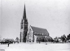 Christchurch Cathedral beginnings. The period for this image is 1882-1886 my hometown