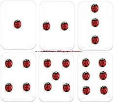 Cartes 1 à 6 inclus Math Numbers, Mathematics, Ladybug, Bugs, School, World Discovery, Preschool, Gaming, Cards