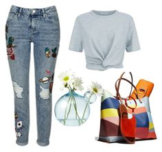 Untitled #3021 by doinacrazy on Polyvore featuring polyvore fashion style T By Alexander Wang Topshop Tory Burch clothing