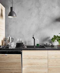 New kitchen ideas wood cabinets modern Ideas Ikea Kitchen Design, Modern Kitchen Cabinets, Rustic Kitchen, Kitchen Interior, New Kitchen, Kitchen Grey, Kitchen Ideas, Kitchen Industrial, Kitchen Decor