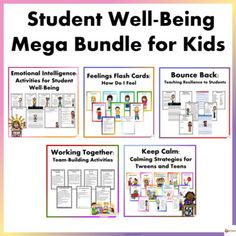 Help your students manage their emotions better, communicate their feelings, develop and enhance their resilience and help them to keep calm during stressful situations. This bundle includes 6 of our student well-being resources. Our student well-being bundle includes 4 resources to help your studen...
