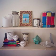 Wall shelves. Floating shelves. Home wall decor. Shelf set up. Shelf display.