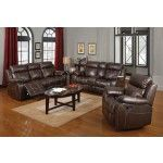 Coaster Furniture - Myleene Chestnut Reclining Sofa and Reclining Loveseat Set - 603021-22