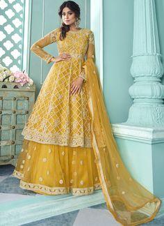 Long Choli Lehenga, Lehenga Suit, Lehenga Style, Net Lehenga, Indowestern Lehenga, Anarkali Suits, Pakistani Dresses, Indian Dresses, Indian Suits