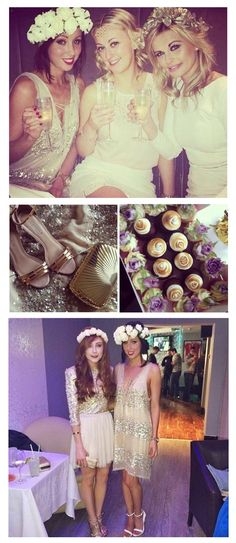 White, Gold and Cream Boho Hen Party. Just beautiful. #Boho #Hen #Party
