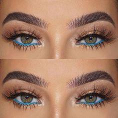 How To Get Amazing Eye Makeup Look For Green Eyes Precious blue eye makeup look for green eyes – Das schönste Make-up Makeup Looks For Green Eyes, Blue Eye Makeup, Skin Makeup, Eyeshadow Makeup, Beauty Makeup, Huda Beauty, Makeup Art, Turquoise Eye Makeup, Cat Eye Eyeliner