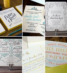 2012 Weddng Invitation Trends : Calligraphy and Hand-Lettering