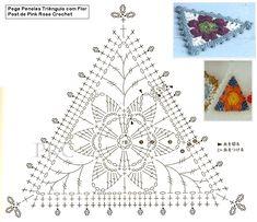 Pega+Panelas+Croche+Triângulo+com+Flor+Gráfico+Triangle++Crochet+Hot+Pad+Pot+Holders.png (849×732)