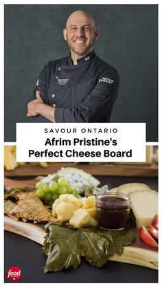 Ontario cheese ambassador Afrim Pristine reveals how to design the best cheese board at home with a few easy-to-follow steps. Meat Platter, Food Platters, Cheese Platters, Party Platters, Canadian Dishes, Canadian Cuisine, Cheese Appetizers, Finger Food Appetizers, Easy Cooking