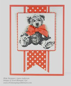 Baby Bear swap card shared by Dawn Olchefske #dostamping #stampinup (Lynn Anderson)