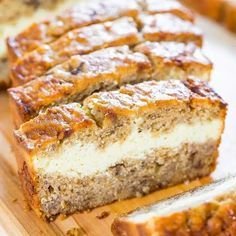 Bananna bread with cream cheese filing