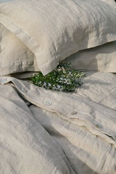 Pure stonewashed linen bedding duvet cover by HouseOfBalticLinen