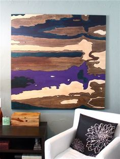 Dishfunctional Designs: Going With The Grain: DIY Plywood Artwork