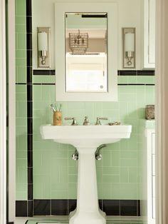 Art Deco bathroom on Pinterest