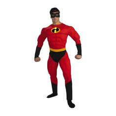 Buy Mens' Mr. Incredible Deluxe Muscle Adult Costume at Walmart.com