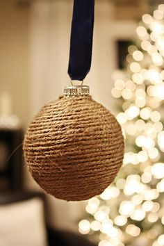 DIY Christmas Ornaments- maybe recover an old bulb?