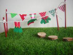 Fairy Elf Washing Line Fairy Elf Bunting Fairy Garden Stepping Stones Mini Pixie