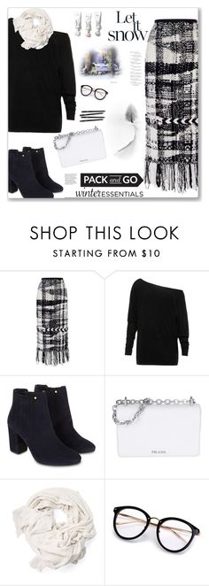 """""""Pack and Go: Winter Getaway"""" by kays-fashion-escape ❤ liked on Polyvore featuring Oscar de la Renta, Monsoon, Prada, Winter, vacation, polyvorecontest, Packandgo and WinterGetAway"""