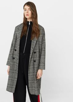 Prince of wales coat -  Woman | MANGO USA